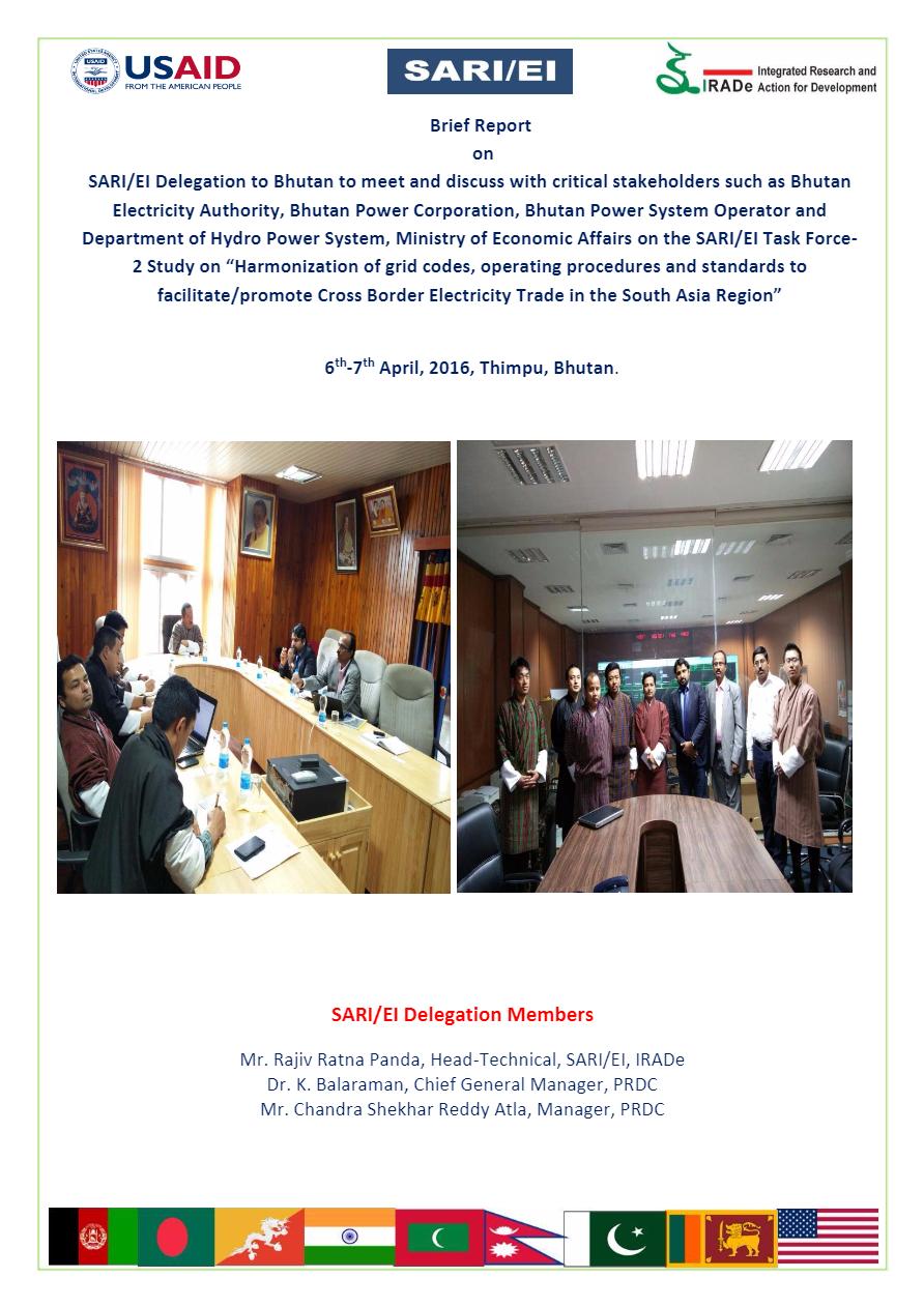 Brief_Report_on_SARI-EI_Technical_Delegation_to_Bhutan-6th-7th_April__2016_for_Grid_Code_Haromonization