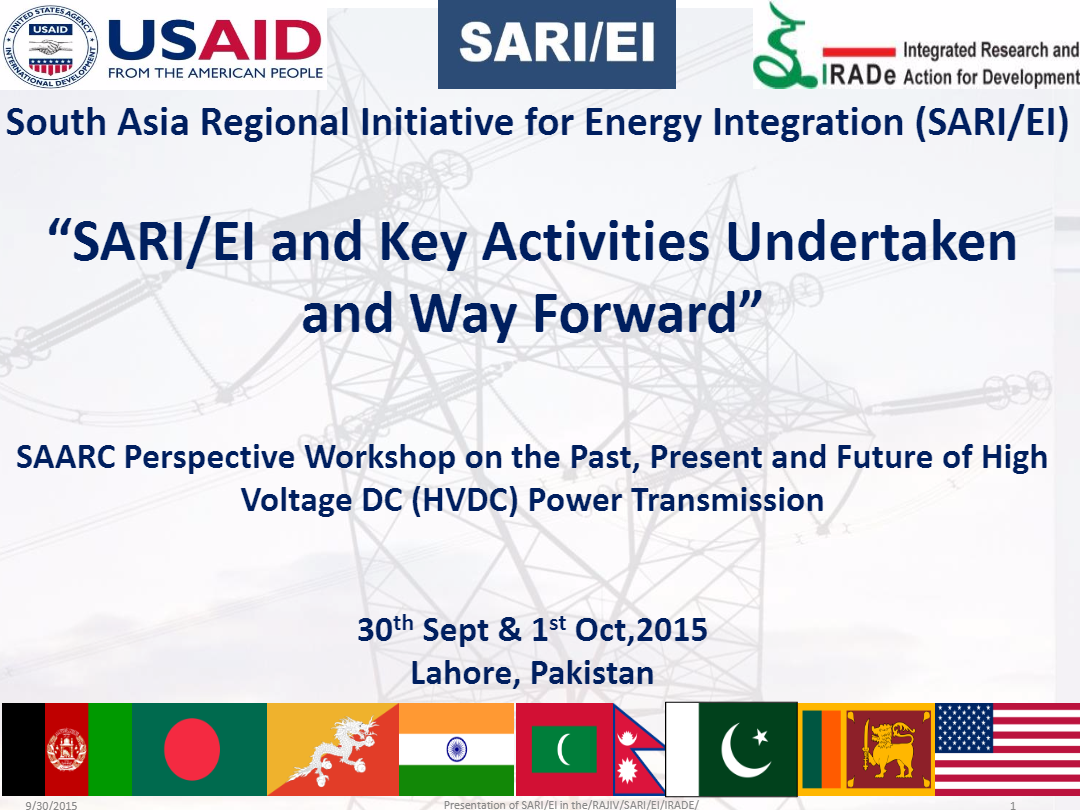 SAARC-HVDC-Workshop-Lahore-Pakistan-SARI-EI-and-Key-Activities-Undertaken-and-Way-Forward