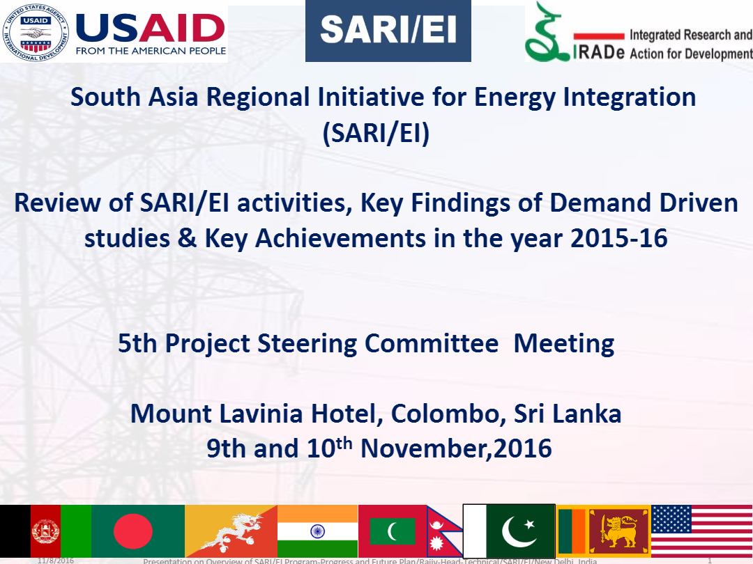 PPT-Review-of-SARI-EI-activities-Key-Findings-of-Demand-Driven-studies-Key-Achievements-in-the-year-2015-16-Rajiv