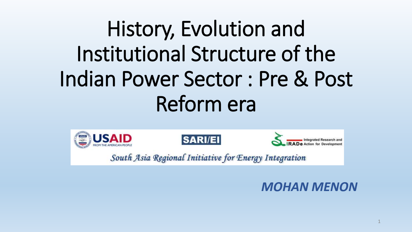 History Evolution And Institutional Structure Of The Indian Power Captive Plant Block Diagram Sector Pre Post Reform Era