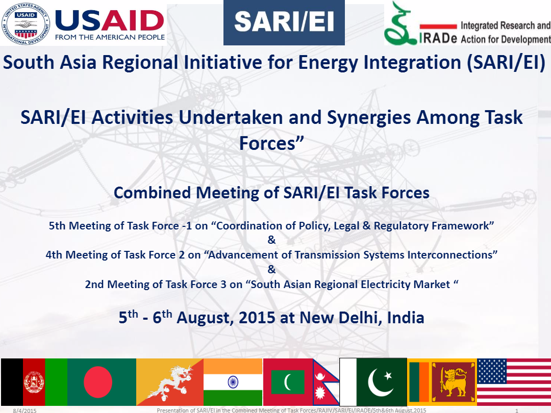 1SARI-EI-IRADe-SARI-EI_Activities_Undertaken_and_Synergies_Among_Task_Forces