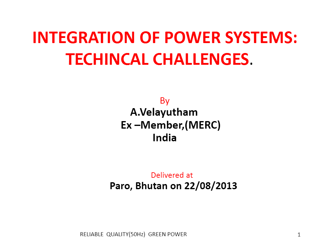 Integration_of_Power_Systems-Techincal_Challenges