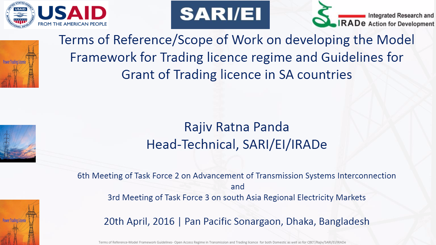PPT-on-TOR-Scope-of-Work-on-developing-the-Model-framework-guidelines-for-Trading-License-Regime-in-SAC-and-for-CBET.-RAJIV