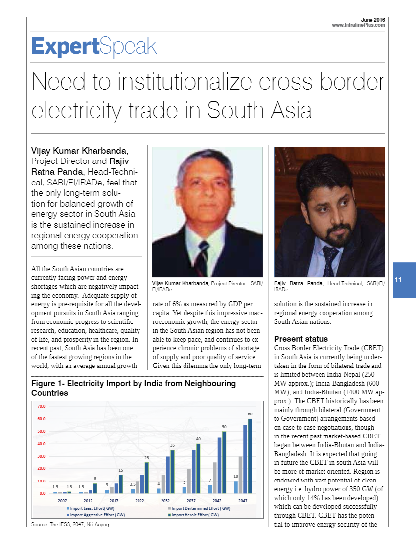 Need-to-institutionalize-cross-border-border-Electricity-Trade-in-South-Asia-by-V.K.Kharbanda-and-Rajiv-Ratna-Panda-Infraline-Plus