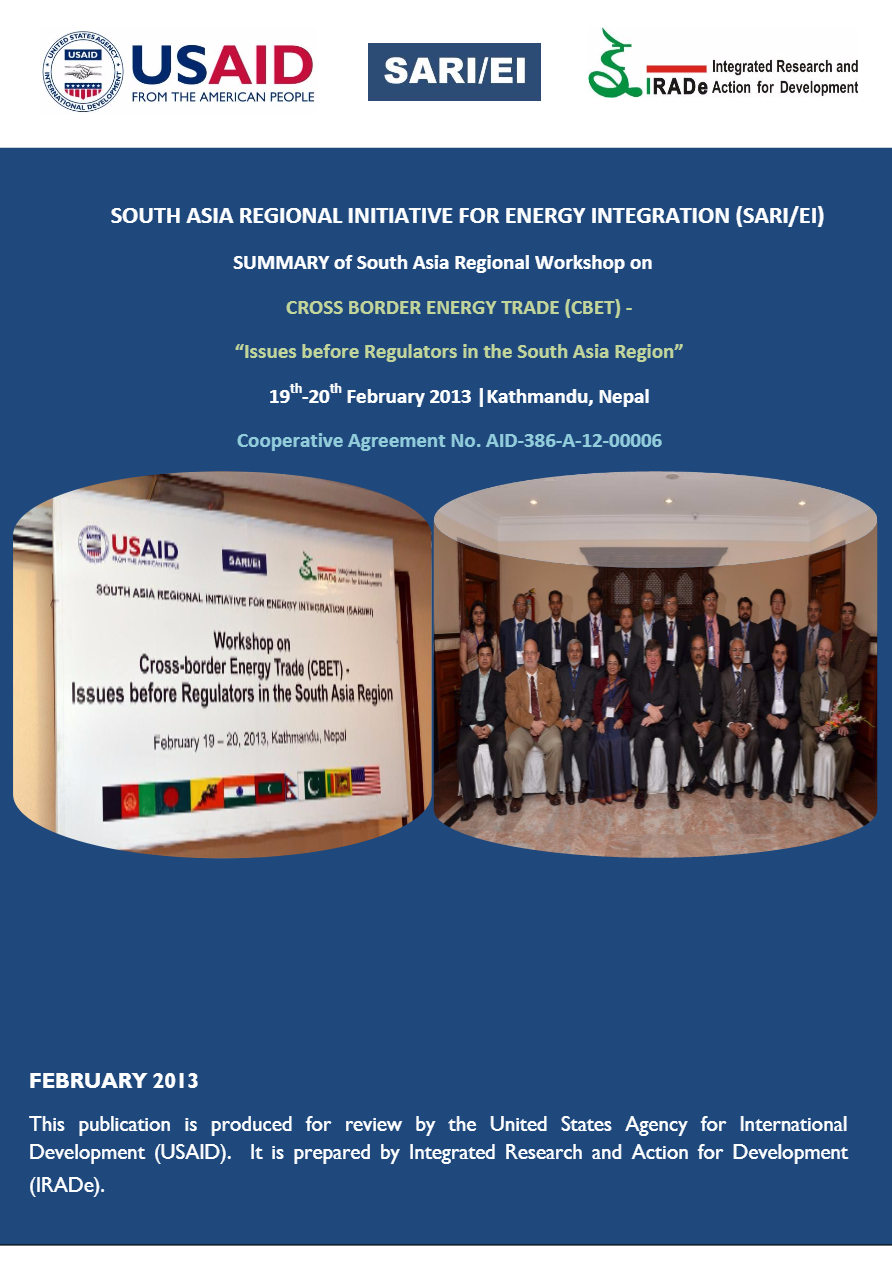 SUMMARY-SARI-EI-IRADe-Workshop-on-CBET-Issues-before-Regulators-in-the-South-Asia-Region-19th-20th-February-2013-Kathmandu-Nepal-Rajiv