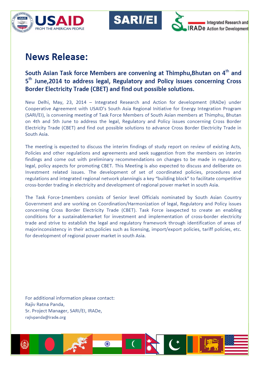 News-Release-of-3rd-meeting-of-TF-1-ThimphuBhutan-on-4th-and-5th-June2014