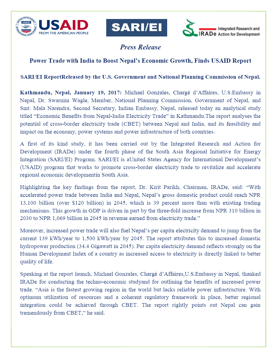 Final-Post-Event-Press-Release-Jan-19-Economic-Benefits-from-Nepal-India-Electricity-Trade----IIDS-IRADe-Rajiv-3