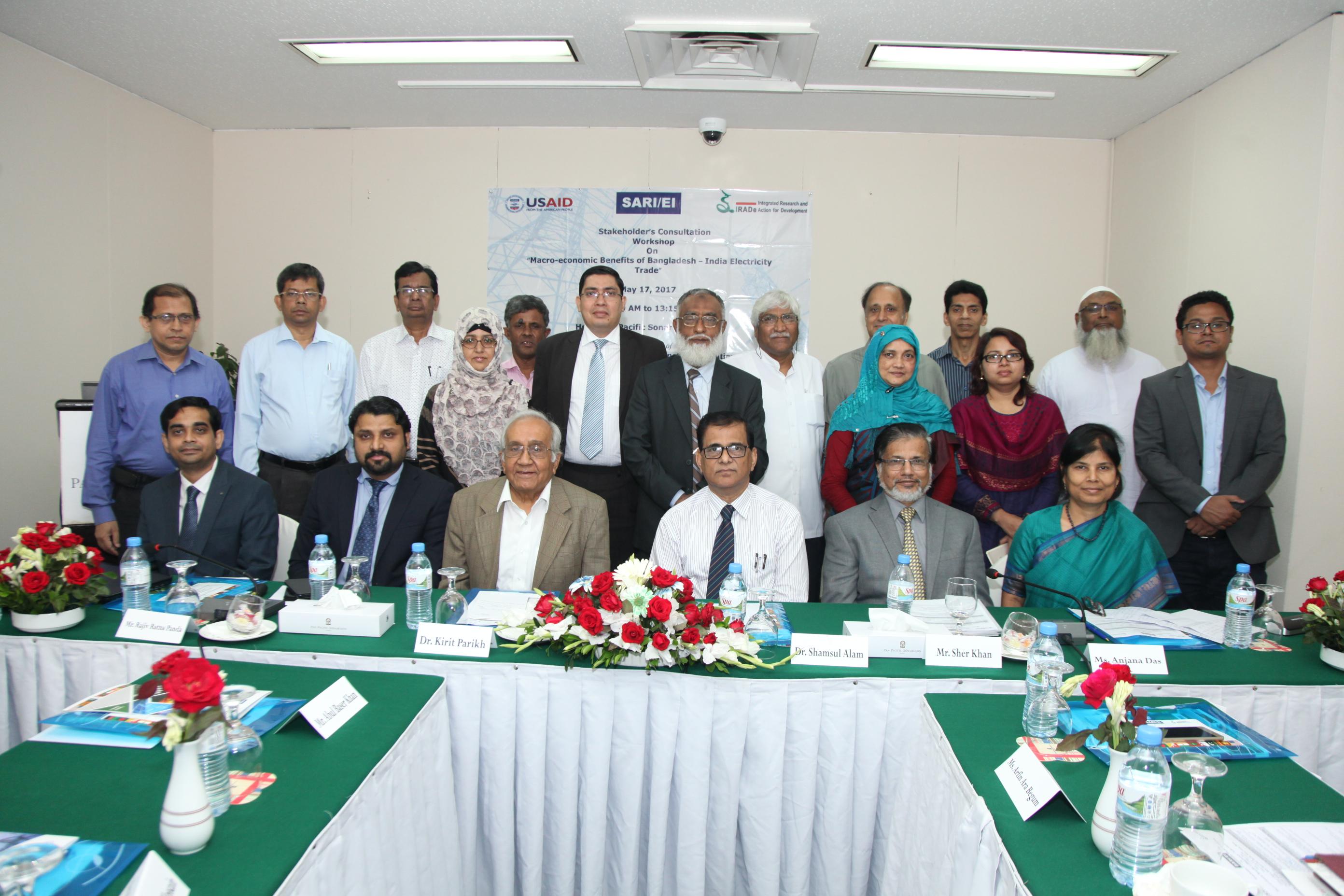 Final Stakeholder's Consultation Workshop On Macro-Economic Benefits of Bangladesh – India electricity trade  17th May, 2017 Chitra Hall, Hotel Pan Pacific Sonar Gaon, Dhaka, Bangladesh