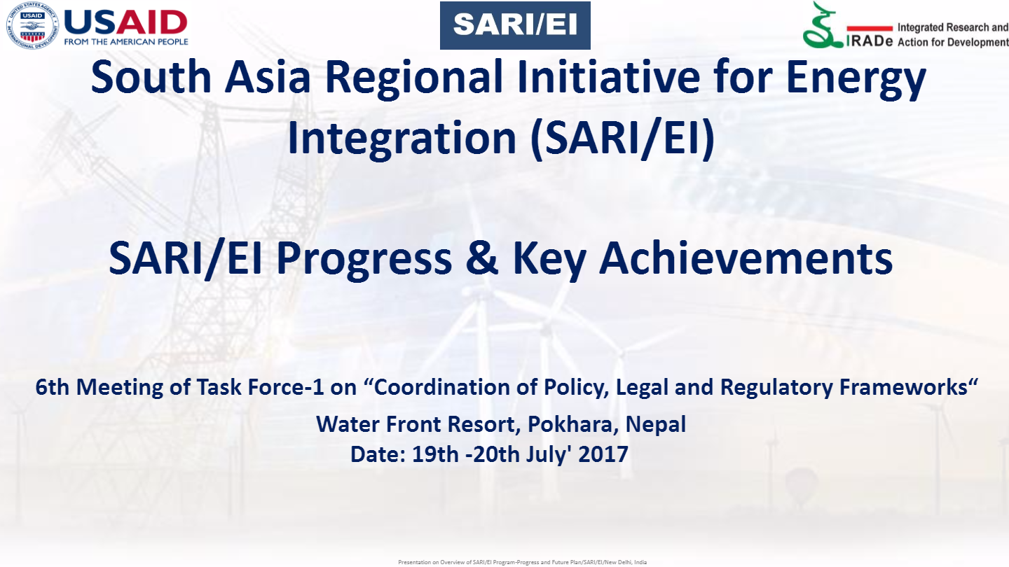 6th-TF1-meeting-SARI-EI-Programprogres-and-key-achievments-V-K-Kharbanda