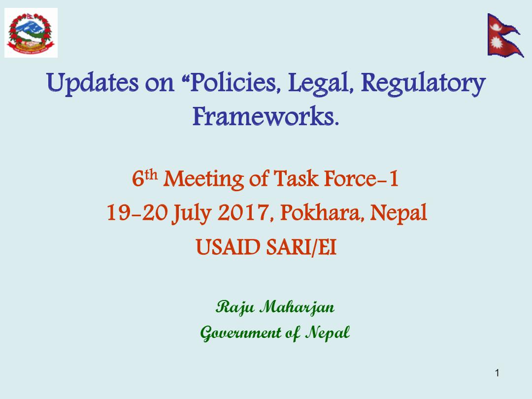 Presentation-by-Raju-MaharjanMoEN-GON-Nepal