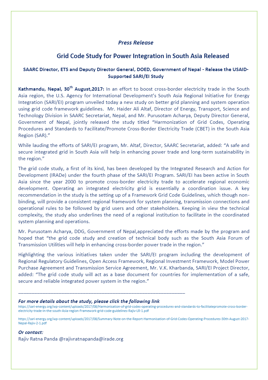 Press-Release-Grid-Code-Report-Release-Nepal-30th-August2017