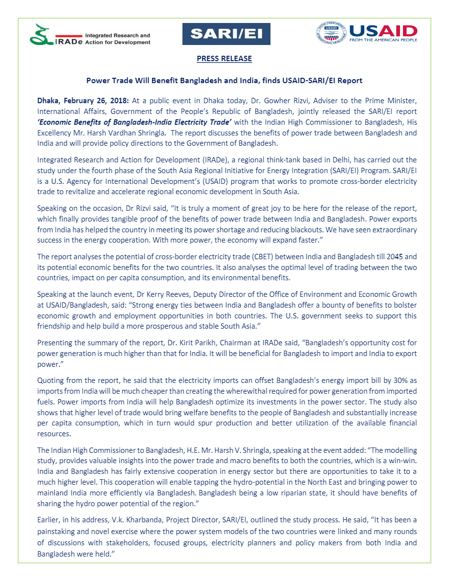 Press-Release-Power-Trade-Will-Benefit-Bangladesh-and-India-finds-USAID-SARI-EI-Report-Dhaka-February-26-2018