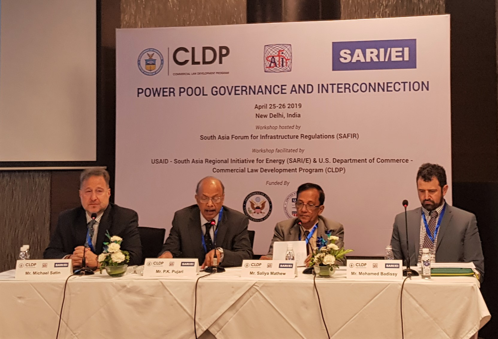 "CLDP, SAFIR and SARI/EI Workshop on ""Power Pool Governance and Interconnection"" -Le Meridien Hotel April 25-26 2019 New Delhi, India"