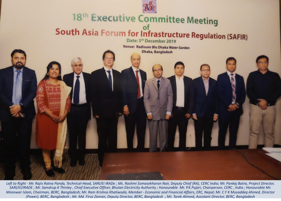 18th SAFIR Executive Committee Meeting, 5th December 2019, Dhaka, Bangladesh