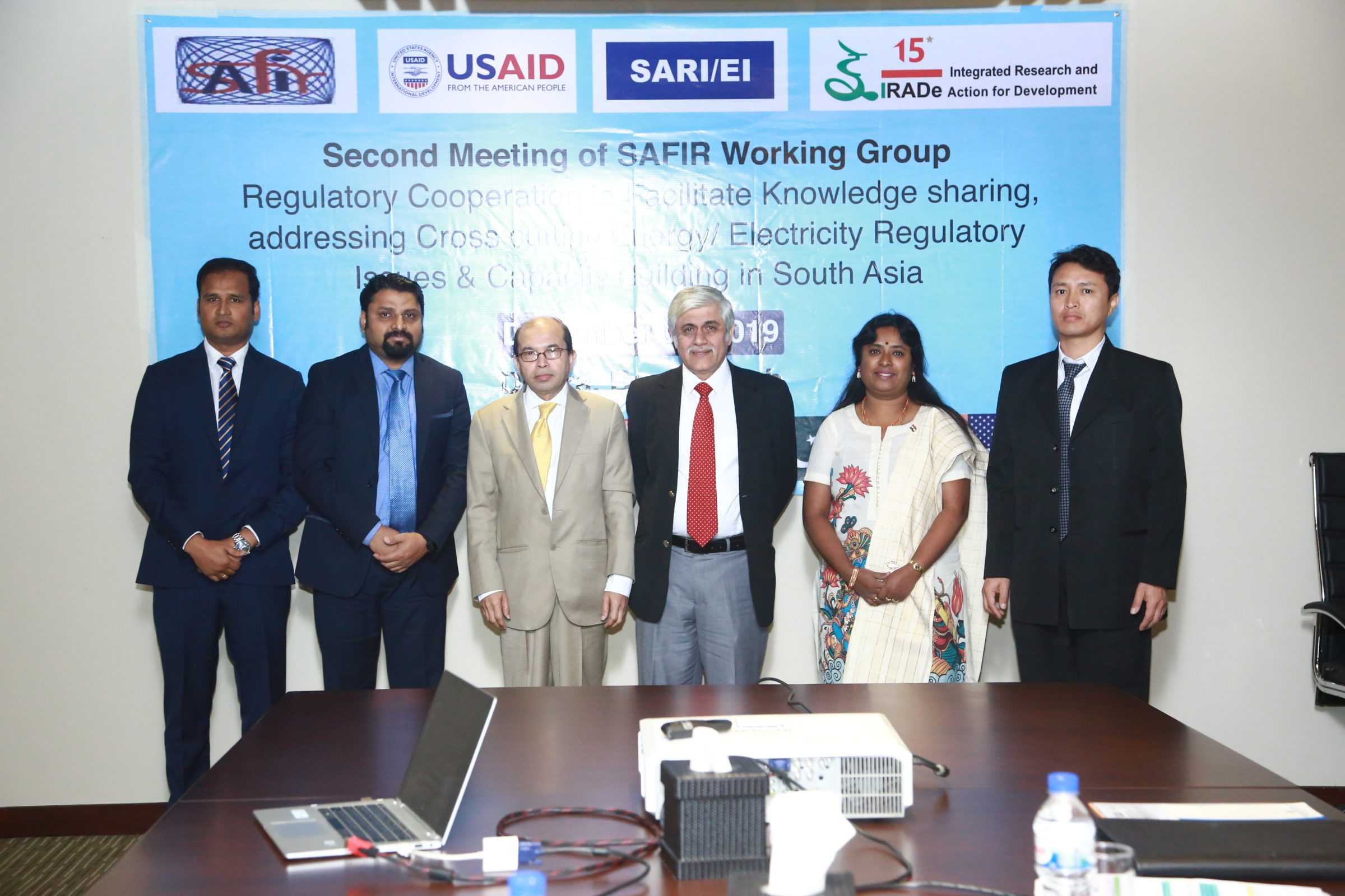 """The Second SAFIR Working Group meeting on """"Regulatory Cooperation to Facilitate Knowledge sharing, addressing Cross cutting Energy/ Electricity Regulatory Issues and Capacity Building in South Asia"""", 4th December 2019"""