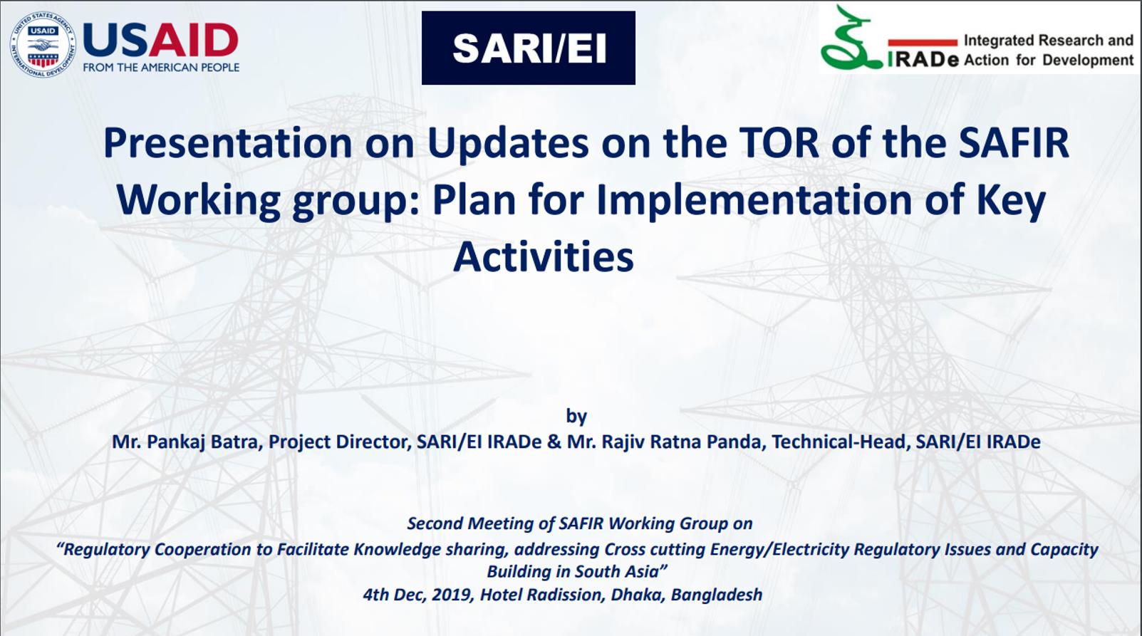 Updates of TOR