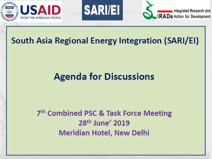 Agenda for 7th Combined Project Steering Committee and Task Force Meeting_28th June, 2019, Delhi, India