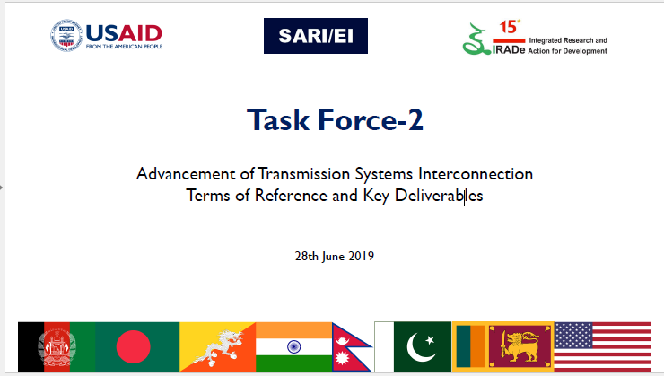 Task Force-2 meeting- Advancement of Transmission Systems Interconnection