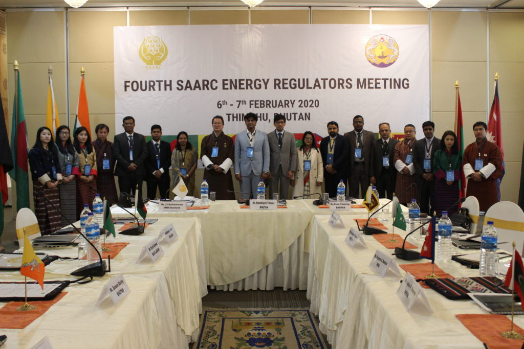 Group picture at Fourth SAARC Energy Regulators meeting, 6-7 Feb 2020, Thimphu, Bhutan