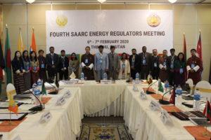 Group picture at Fourth SAARC Energy Regulators meeting, 6-7 Feb 2020, Thimphu, Bhutan